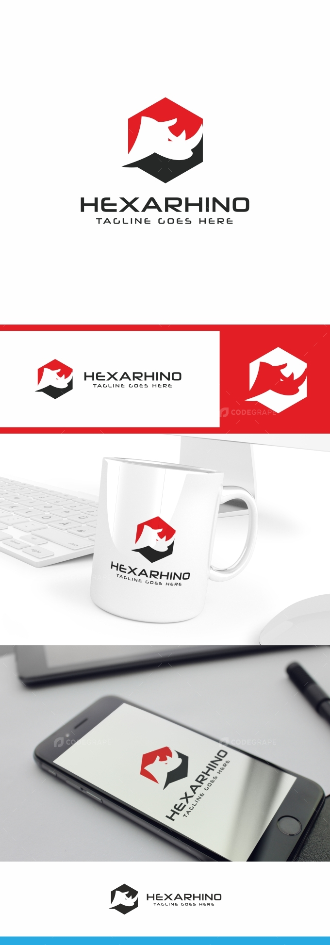 Rhino Hexagon Logo