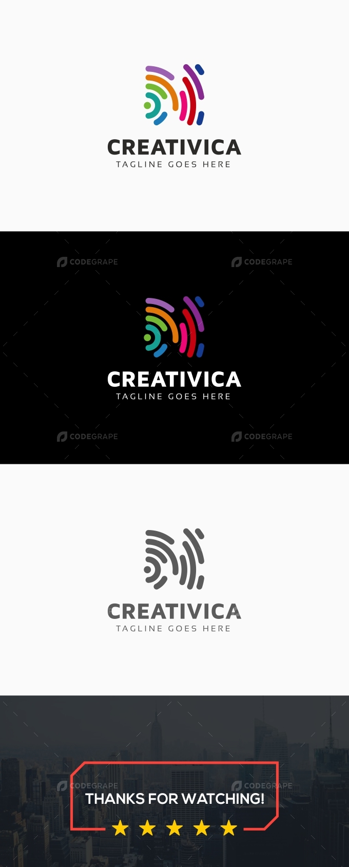 Creativica Abstract Line Logo
