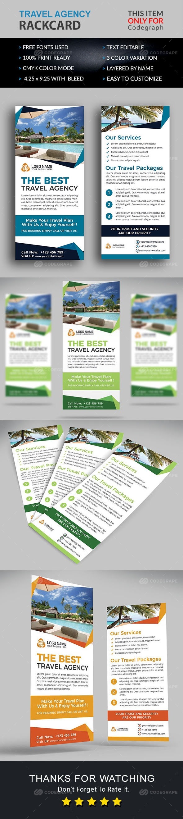 Travel Agency Rackcard Flyer