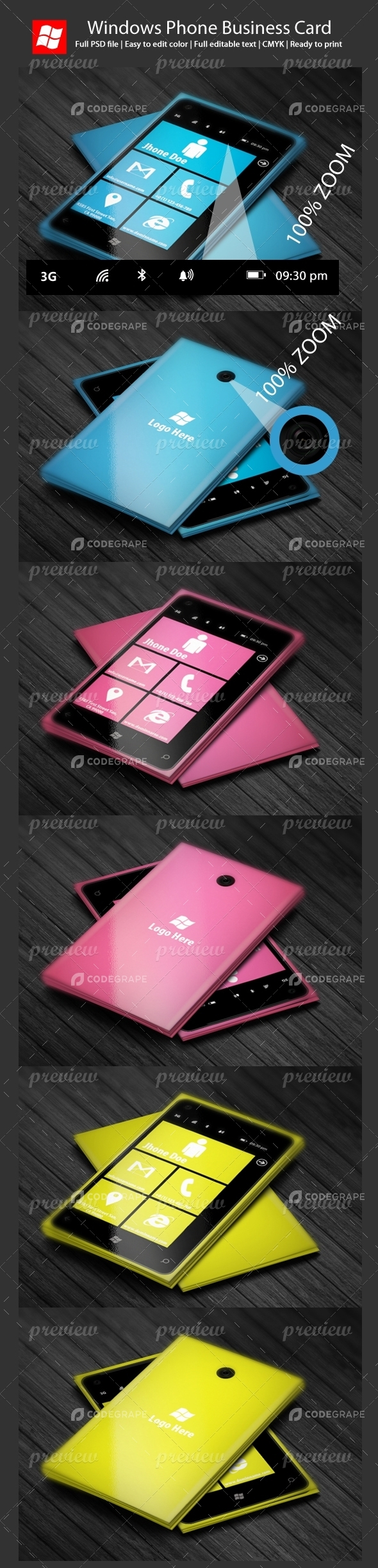 Windows Phone Business Card