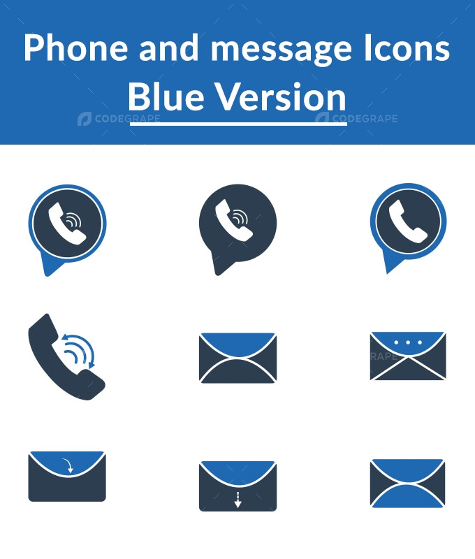 Phone And Message Icons