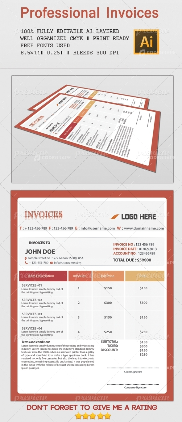 Professional Invoices 2