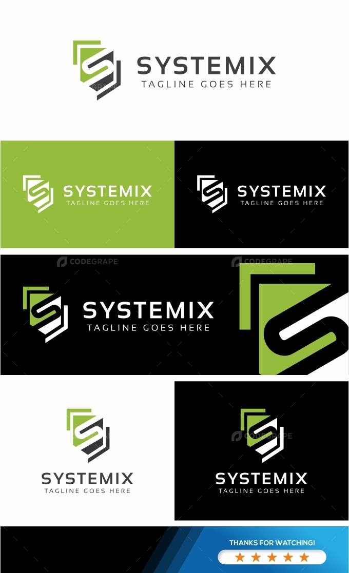 Systemix S Letter Logo