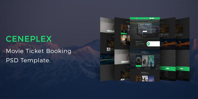 Ceneplex - Online Movie Ticket Booking PSD Template
