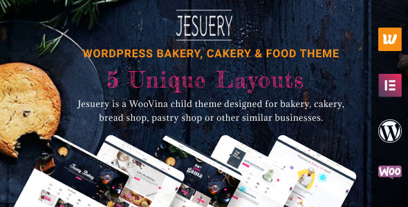 Jesuery - WordPress Bakery, Cakery & Food Theme