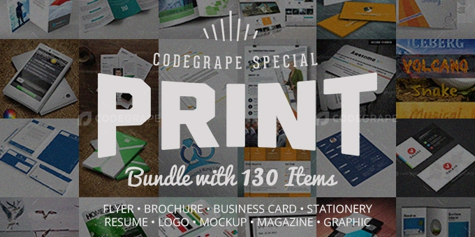 Ultimate Print Templates Bundle with 130 Items - Only $19