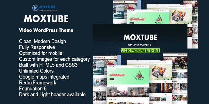 Moxtube - Video WordPress Theme