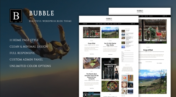 Bubble - Beautiful Wordpress Blog Theme