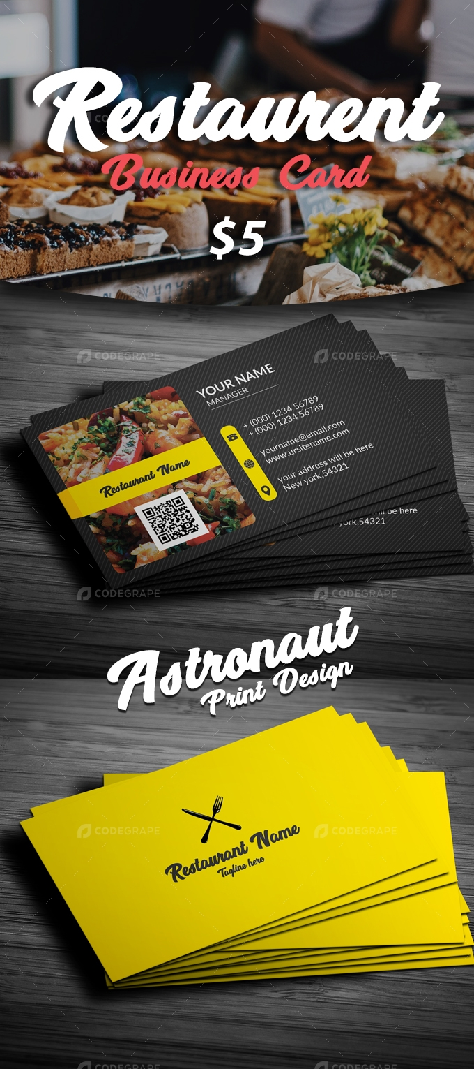 Restaurant Business Card [VOL-12]