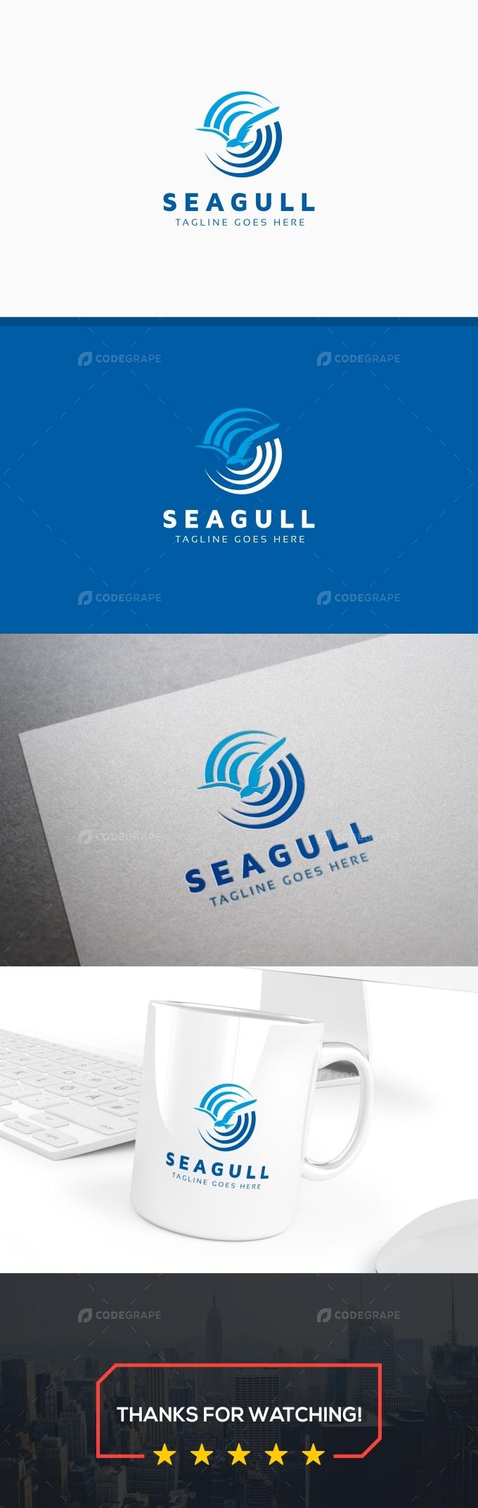 Seagull Logo Template