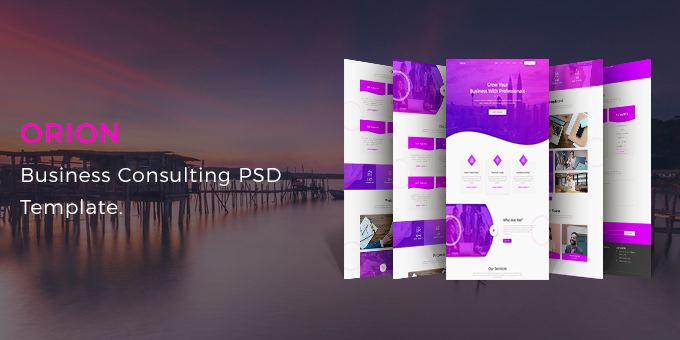 Orion - Business Consulting PSD Template.