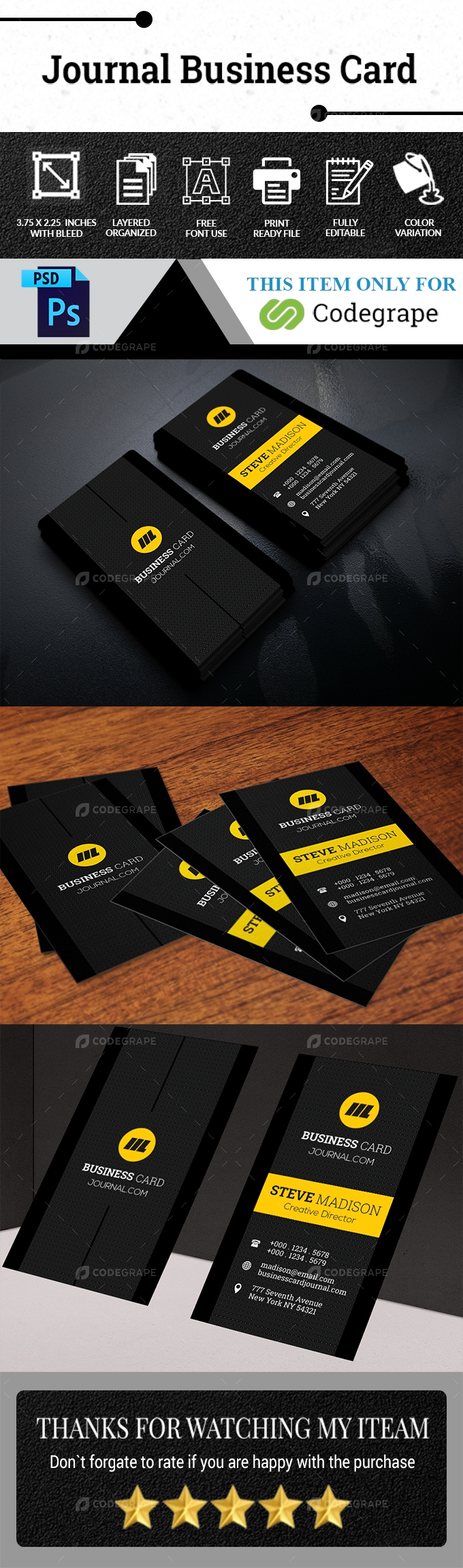 Journal Business Card