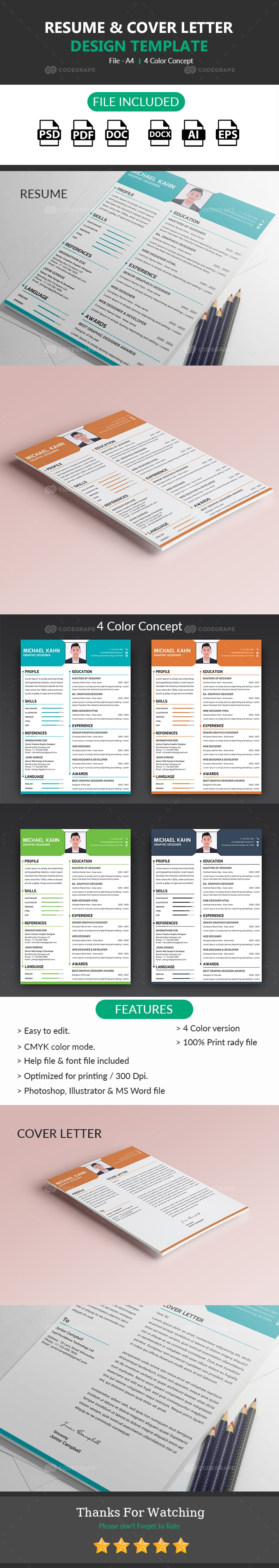 Resume  Cover Letter Design  Print  Codegrape