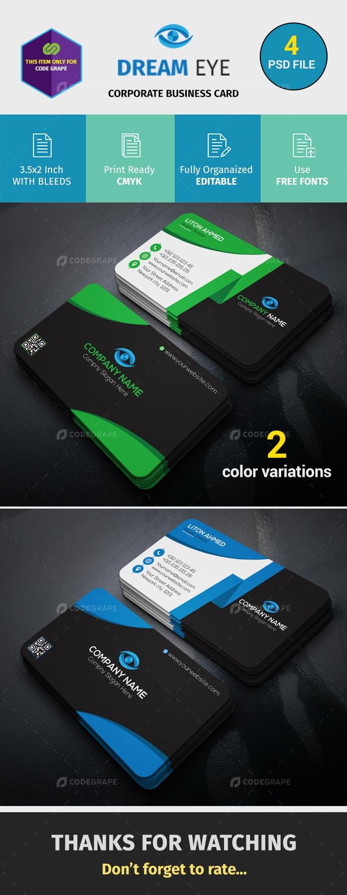 Creative business card print codegrape creative business card reheart Gallery