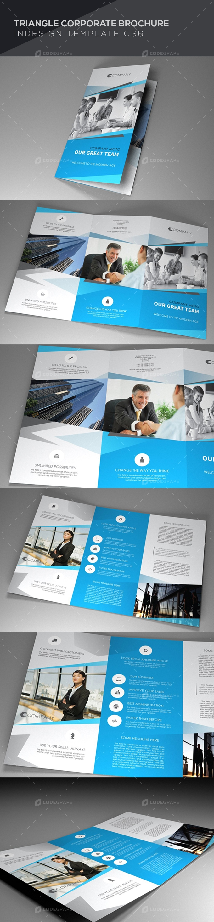 Indesign Brochure Triangle