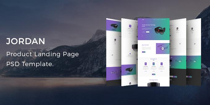 Jordan - Product Landing Page PSD Template