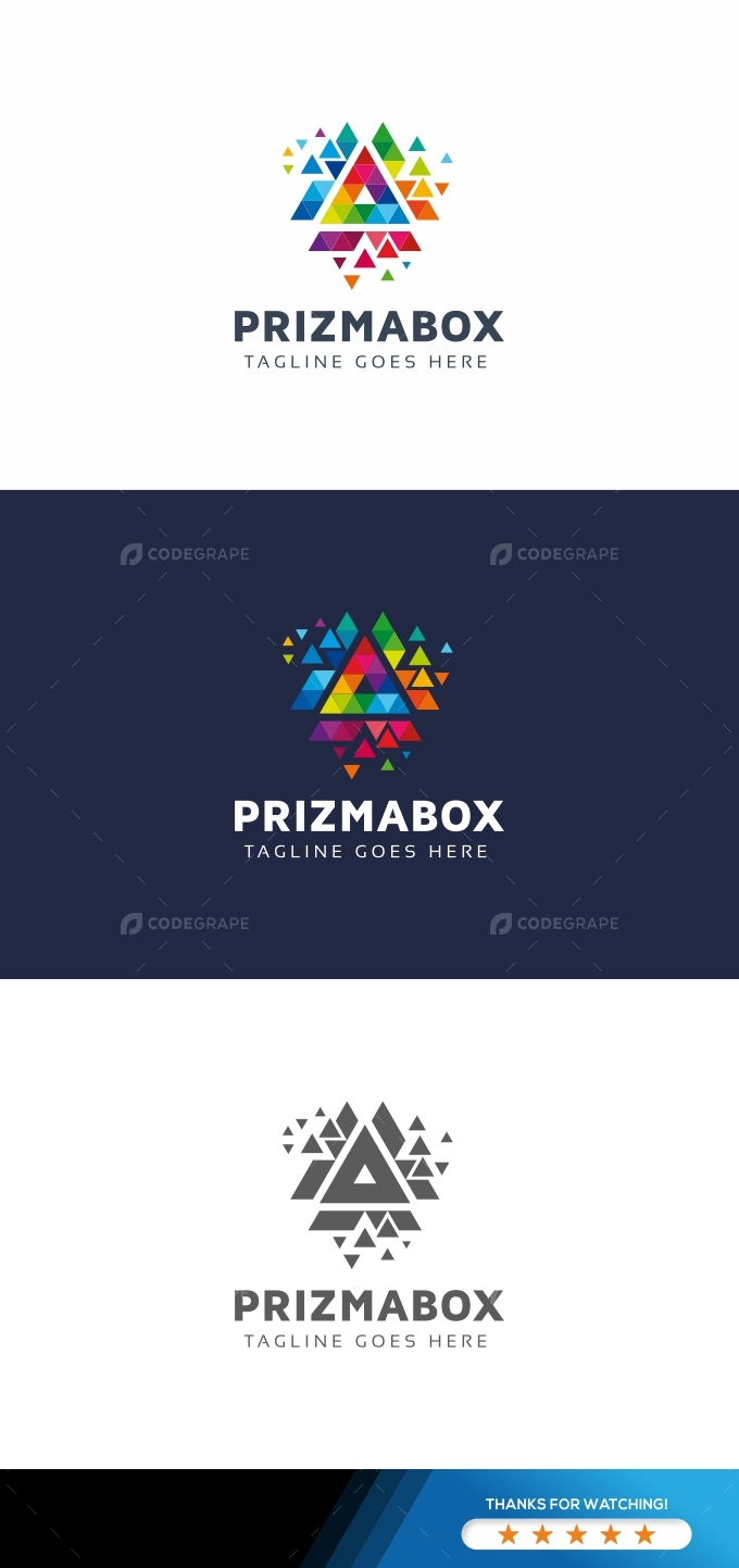 Prizma Box Triangle Logo