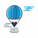 Flying Balloon Travel Logo