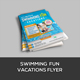 Flyer Swimming Fun Vacations Include Gift Vouchers