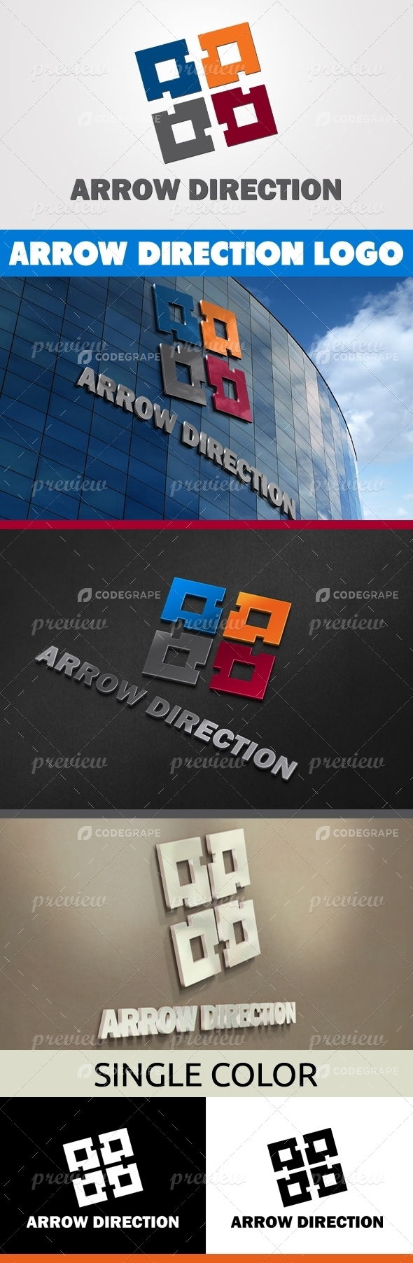 Arrow Direction Logo