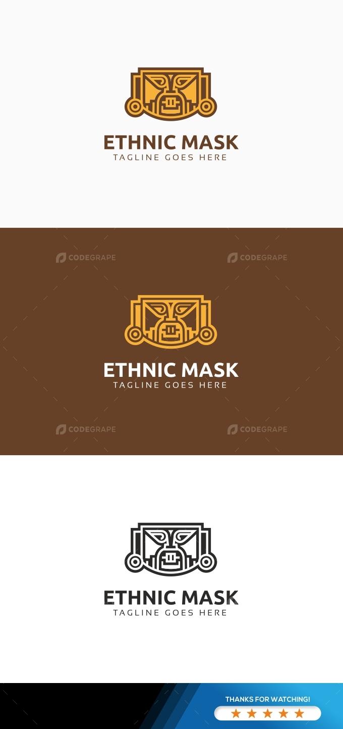 Ethnic Mask Logo