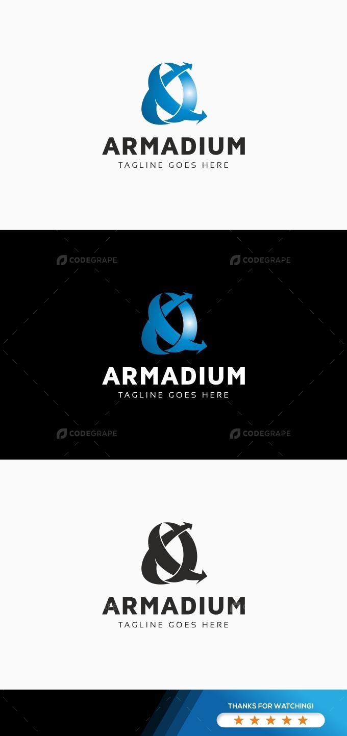 Armadium Arrows Circle Logo