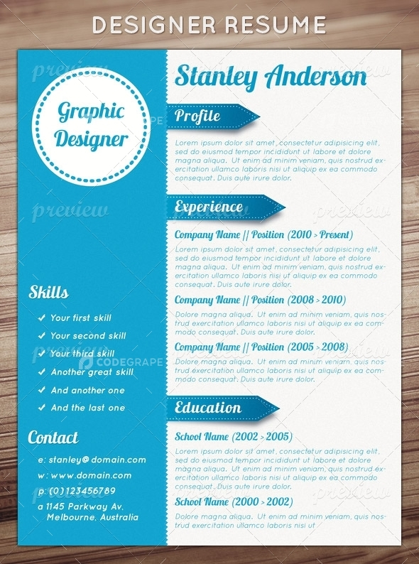 Designer Resume 50 awesome resume designs that will bag the job hongkiat Designer Resume