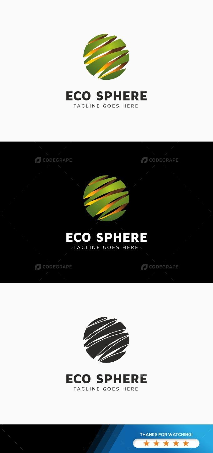 Eco Sphere Logo Template