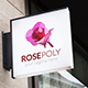 Rose Polygonal Logo