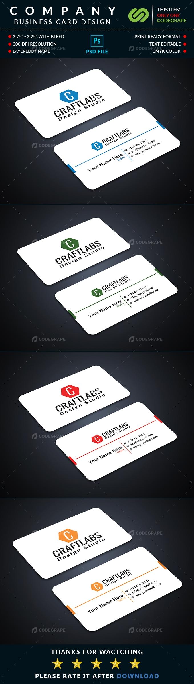 Company Business Card
