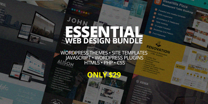 Essential Web Design Bundle with Extended License - Only $29