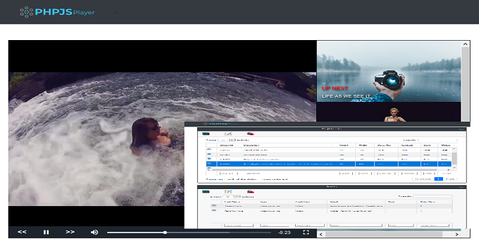 PHPJSPlayer - simple, yet elegant database driven html5 video player