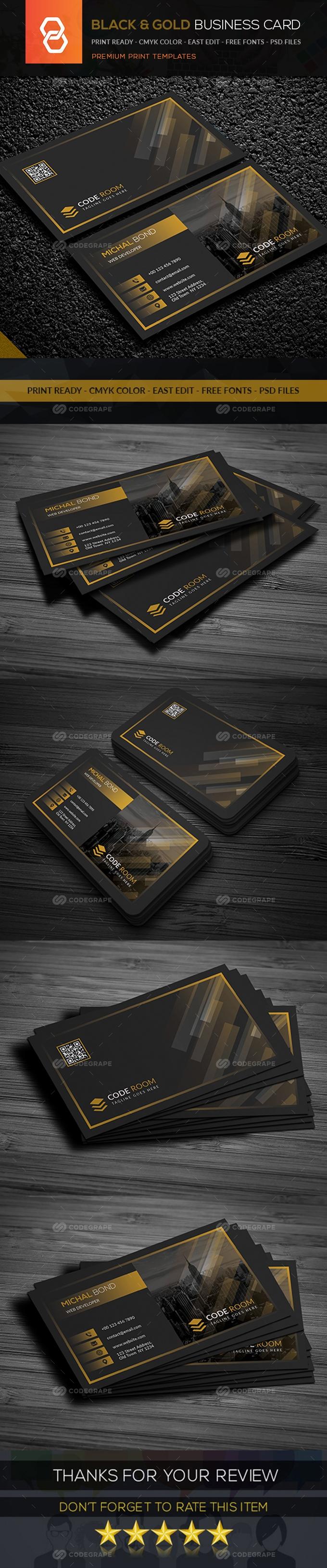 Black & Gold Business Card