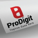 Pro Digit P and D Letter Logo Design