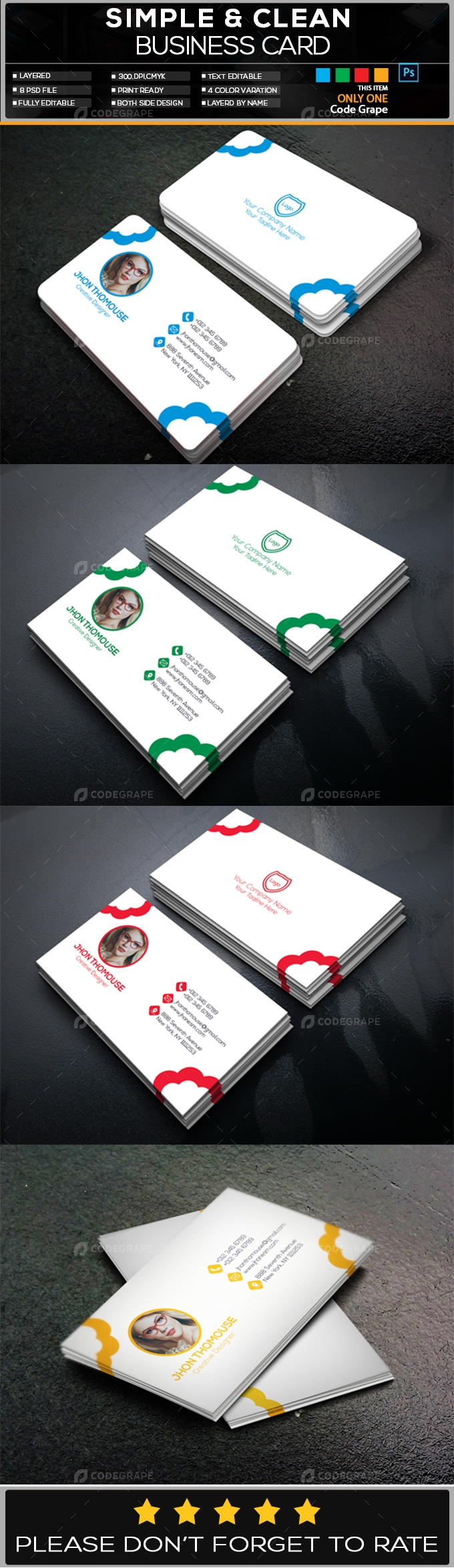 Photography Business Card Vol - 4