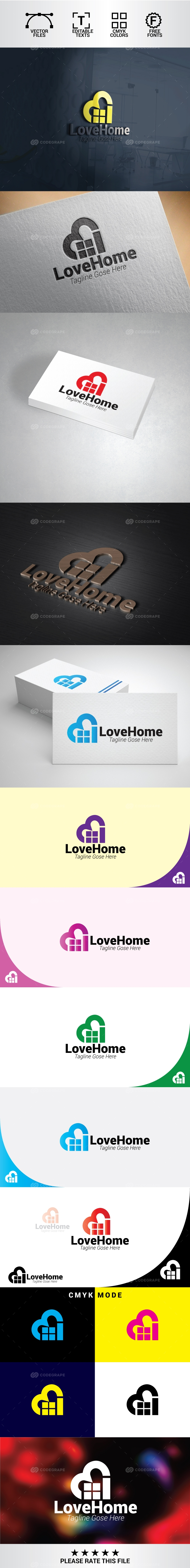 Love Home Logo | Property and Real Estate Logo