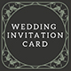 Flower Wedding Invitation Card