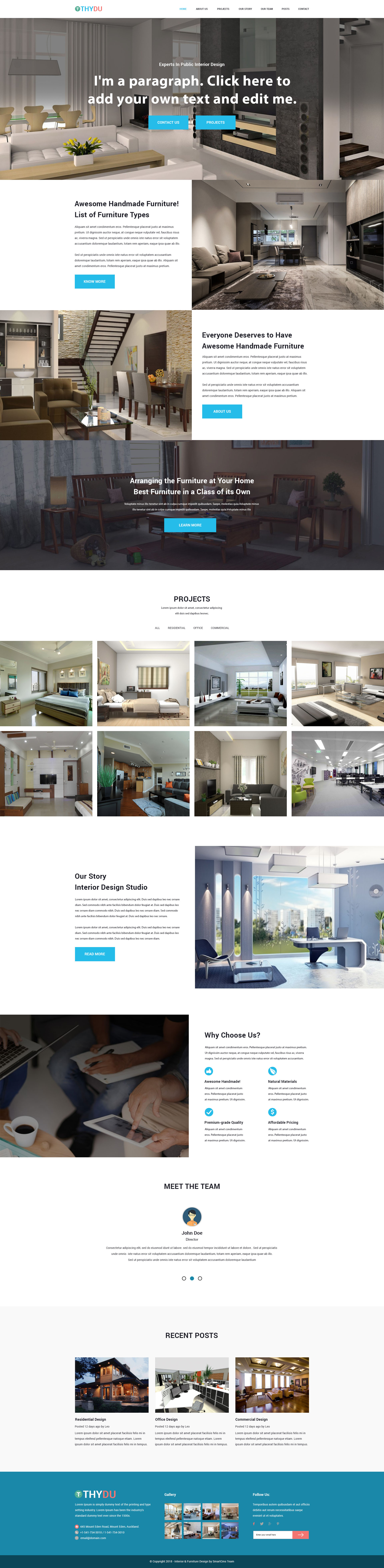 THYDU - Furniture and Interior PSD Template
