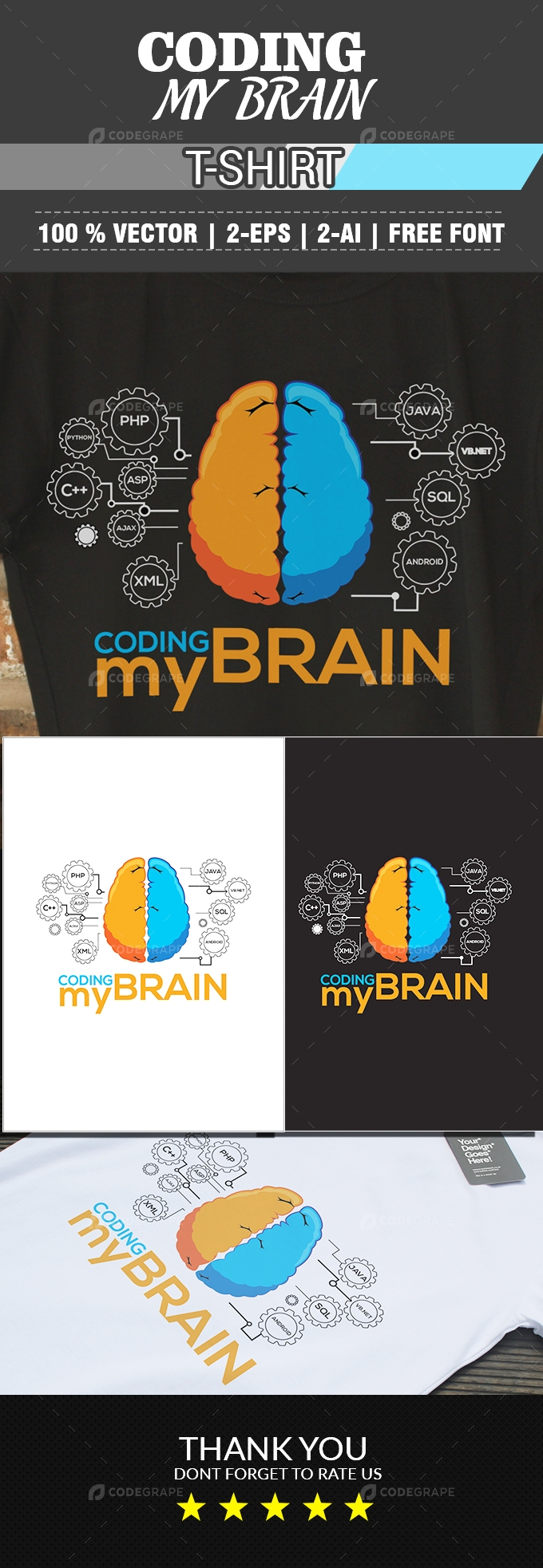 Coding My Brain T-Shirt
