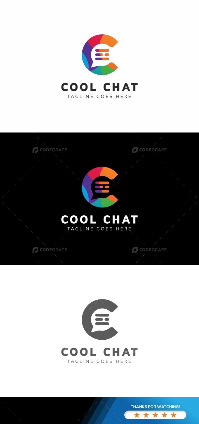 Cool Chat C Letter Logo