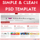 Simple and Clean PSD Template