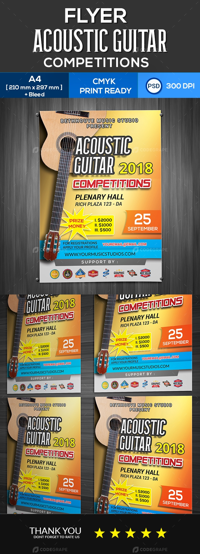 Acoustic Guitar Competitions Flyer