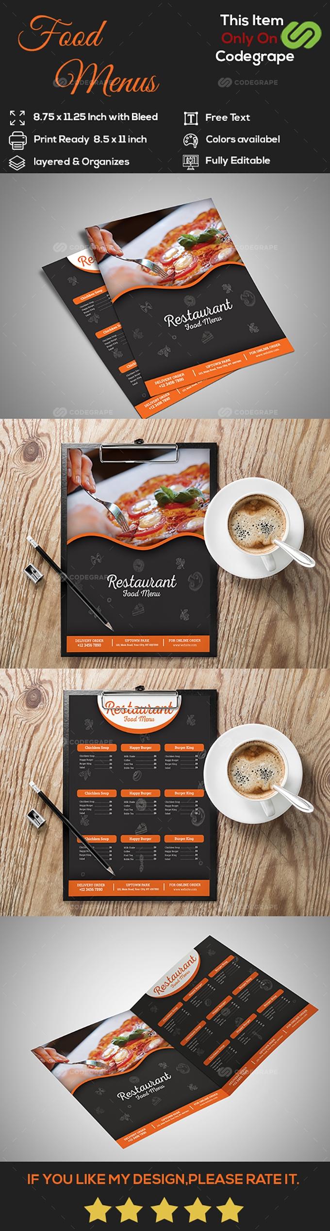 Restaurant/Food Menu