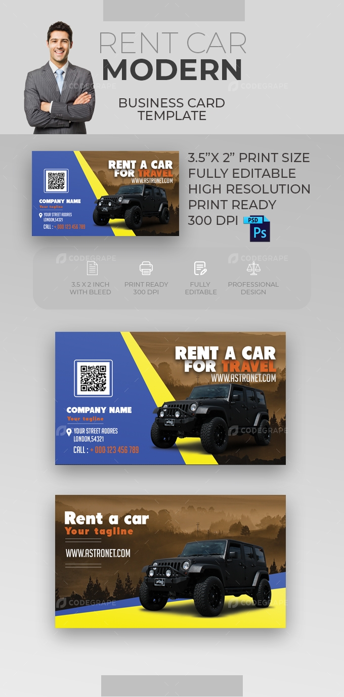 Rent Car Business Card [VOL-18]