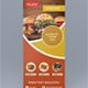 Food Roll-up Banner Design
