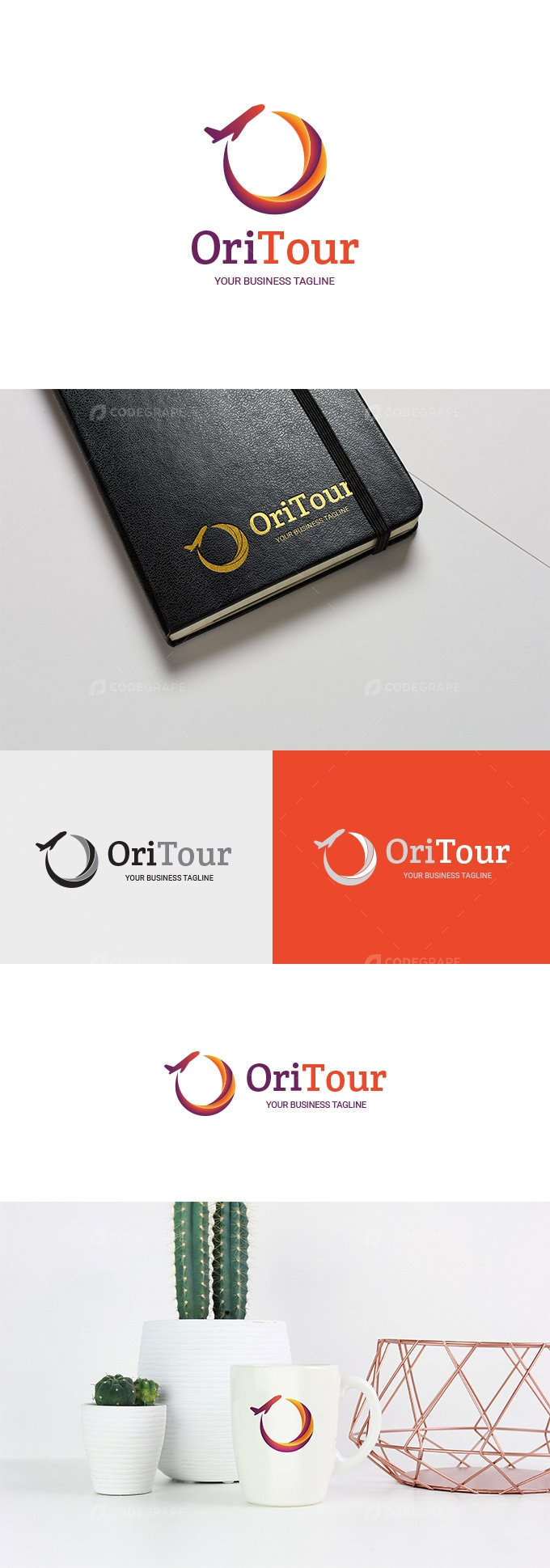 OriTour - Travel Agency or Company Logo