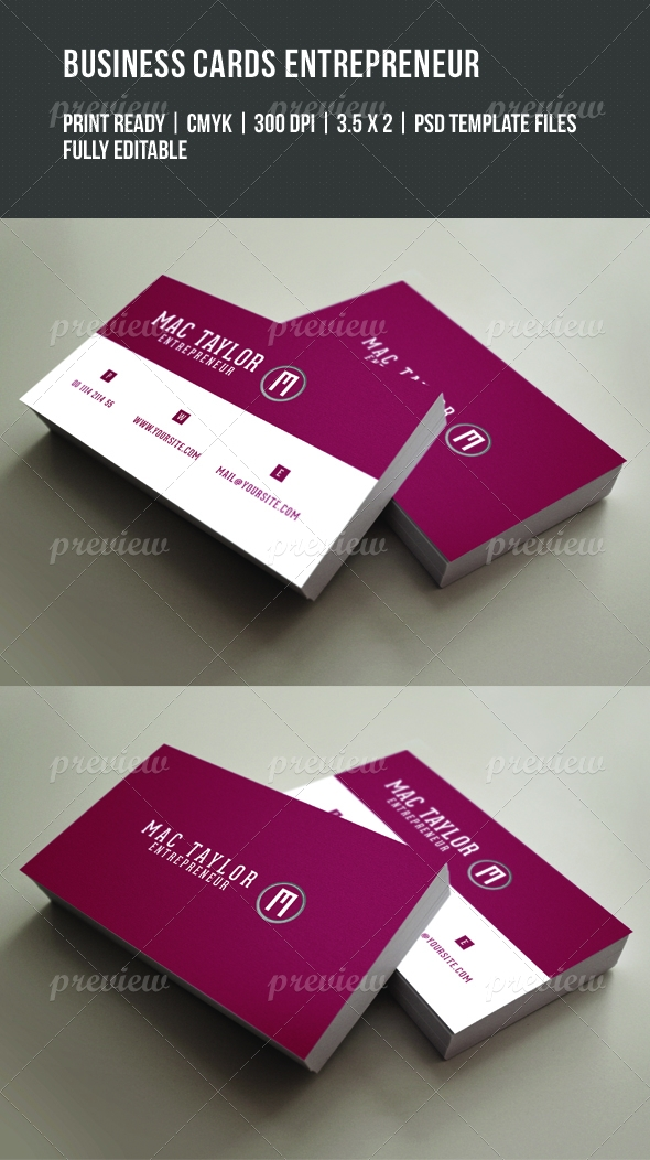 Entrepreneur Business Card - Print   CodeGrape