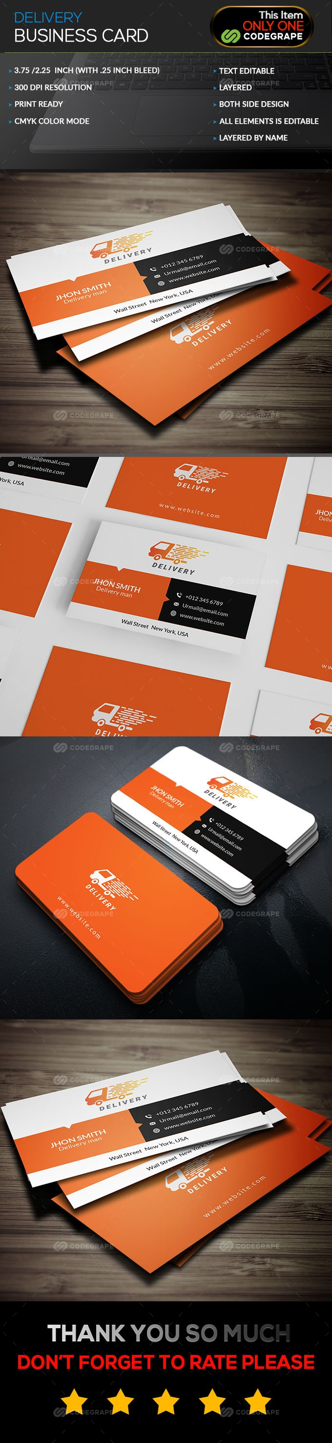 Delivery Business Card