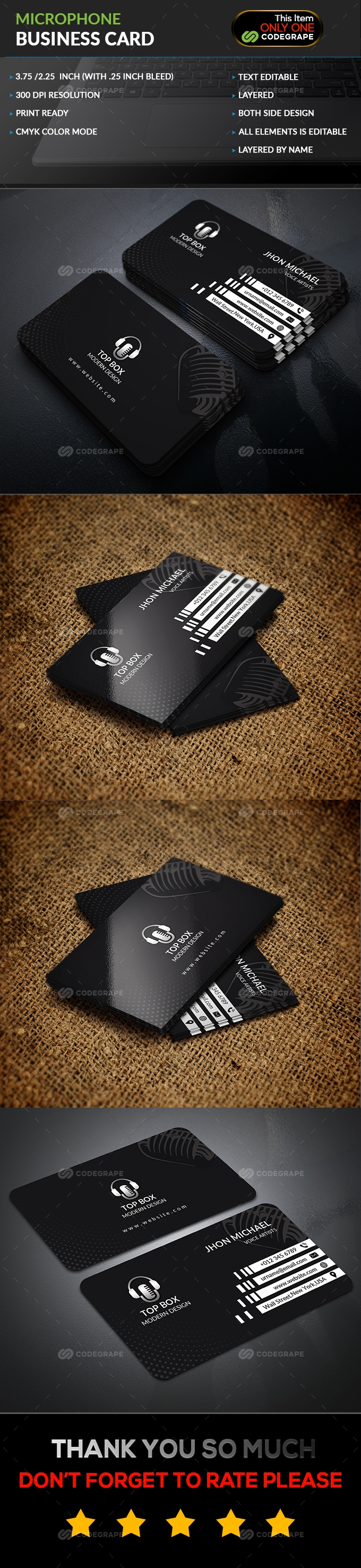 Microphone Business Card