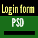 Login Form PSD Design